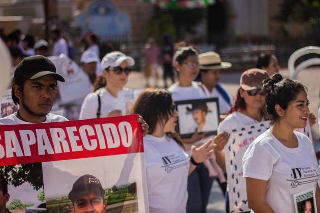 Jorge Salas, uno de los jóvenes voluntarios en la Brigada Nacional de Búsqueda de Desaparecidos. Crédito: Efraín Tzuc/Pie de Página