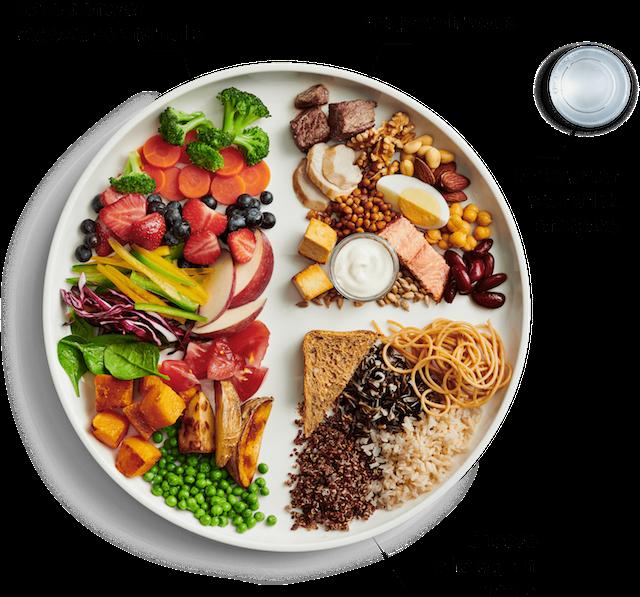 Imagen de la nueva guía de alimentación saludable de Canadá, presentada en enero de 2019. Crédito: Cortesía del gobierno de Canadá.