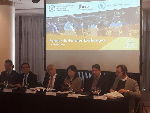 La Conferencia de Cooperación Sur-Sur estuvo acompañada de una catarata de eventos paralelos, como el de la Organización de las Naciones Unidas para la Alimentación y la Agricultura (FAO), el Fondo Internacional para el Desarrollo Agrícola (Fida) y el Programa Mundial para la Alimentación (PMA), donde se discutió cómo favorecer la colaboración directa de agricultor a agricultor de diferentes países en desarrollo. Crédito: Daniel Gutman/IPS