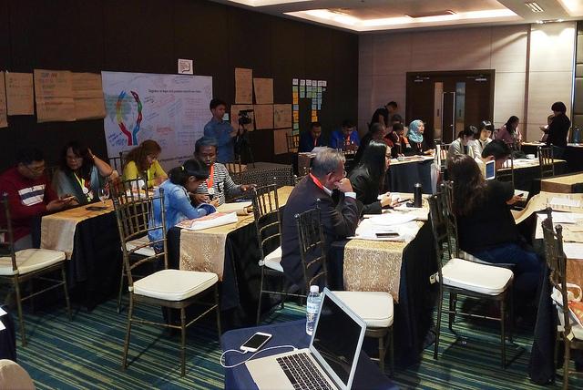 Delegados de las organizaciones presentes en la Asamblea Regional de Organizaciones de Personas Afectadas por la Lepra en Asia, realizada del 3 al 5 de marzo de 2019 en Manila, debatieron sobre varios objetivos nacionales y regionales. Uno de los resultados más notorios es la creación de una secretaría para coordinar y presentar la agenda en la próxima conferencia mundial sobre lepra, que tendrá lugar en septiembre de este año. Crédito: Ben Kritz/IPS.
