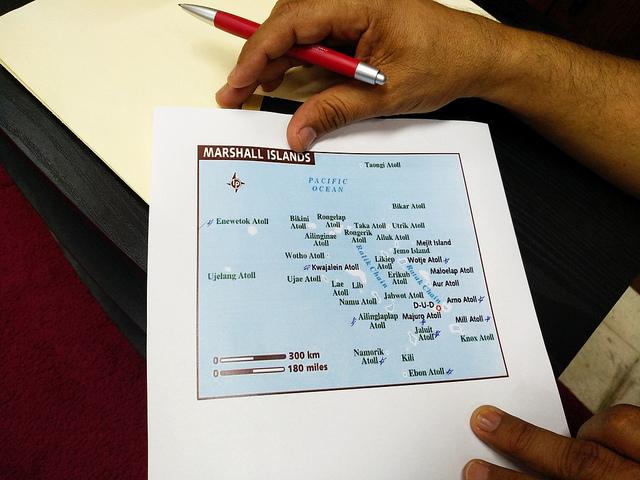Lugares sensibles con casos de lepra en Islas Marshall. Crédito: Stella Paul/IPS