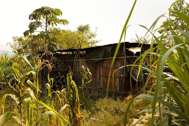 La casa de Felisa Cuc en Pombaac. Crédito: Ryan Brown/ONU Mujeres