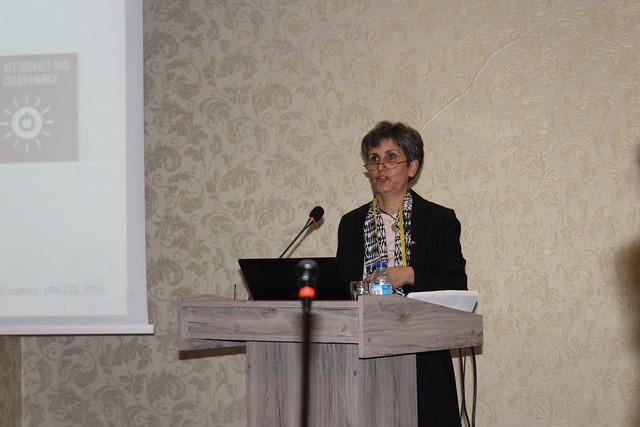 Mariam Akhtar-Schuster, copresidenta de la Interfaz Ciencia-Política de la CNULD, quien dialogó con IPS en Ankara durante la celebración del Día Mundial de la Lucha contra la Desertificación y la Sequía, el lunes 17 de junio, sobre la necesidad en avanzar en la neutralidad en la degradación de la tierra. Crédito: Desmond Brown /IPS
