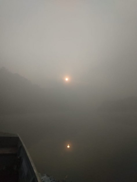 El aire totalmente contaminado de Porto Velho, capital de Rondônia, estado amazónico en el noroeste de Brasil, en la frontera con Bolivia, donde también es intensa la deforestación. La contaminación atmosférica por partículas de los incendios afecta la salud en toda la Amazonia y alcanzó incluso São Paulo, a unos 2.000 kilómetros al sureste, el 19 de agosto. Crédito: Cortesía de bióloga Daniely Felix