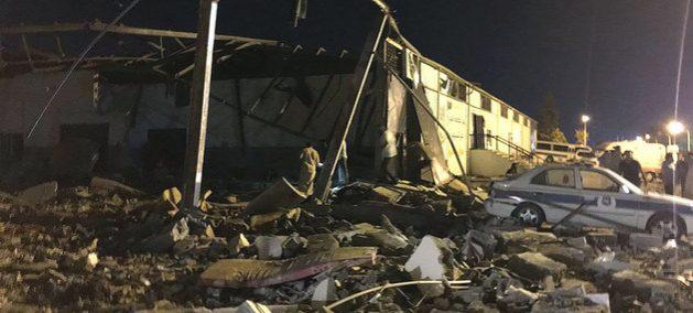 El centro de detención de migrantes de Tajura, al este de Trípoli, destruido durante un bombardeo el 3 de julio y cuya promesa de cierre no se ha cumplido. Crédito: Moad Laswed/OIM