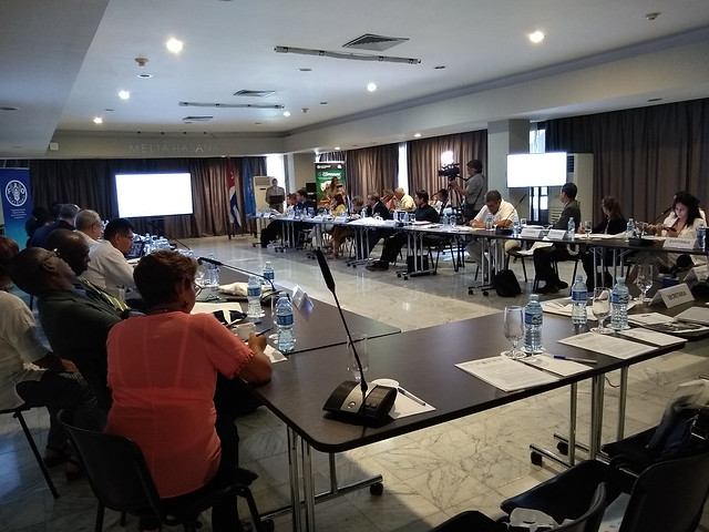 Con la participación de 50 representantes de 18 países, la Comisión para la Pesca en Pequeña Escala, Artesanal y Acuicultura para América Latina y el Caribe revisó el estado actual y los desafíos de la región en el área, durante su XVI reunión ordinaria, celebrada en la capital de Cuba. Crédito: Ivet González/IPS