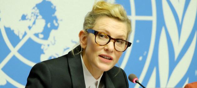 """La actriz australiana Cate Blanchett alertó sobre la total invisibilidad de millones de personas en el mundo, víctimas de apatridia, y aseguró que """"es hora de actuar"""" para sacarlas de este limbo devastador. Crédito: Daniel Johnson/ONU"""