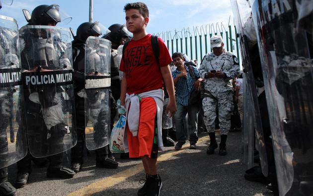 Regresar a su país de origen no es una opción para los migrantes hondureños, pese a las promesas de programas sociales. Crédito: Bladimir Pérez/Chiapas Paralelo