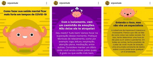 La Secretaría Nacional de la Juventud (SNJ) de Brasil organizó chats en vivo por Instagram. Foto: SNJ