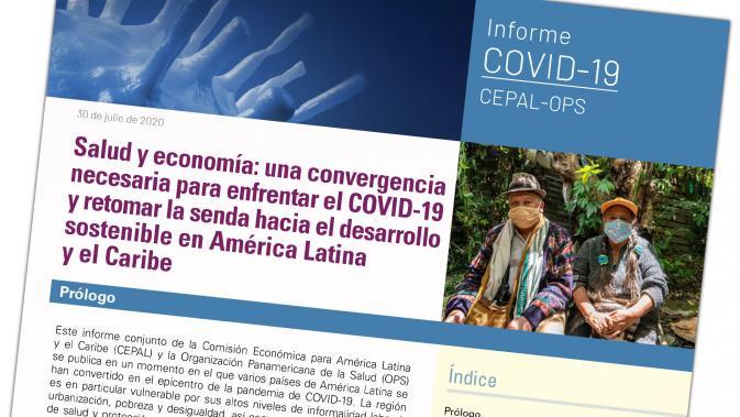El nuevo informe de la Cepal/OPS sobre el dramático impacto sanitario y económico de la pandemia de covid-19 en América Latina y el Caribe, lanzado el jueves 30. Foto: Cepal