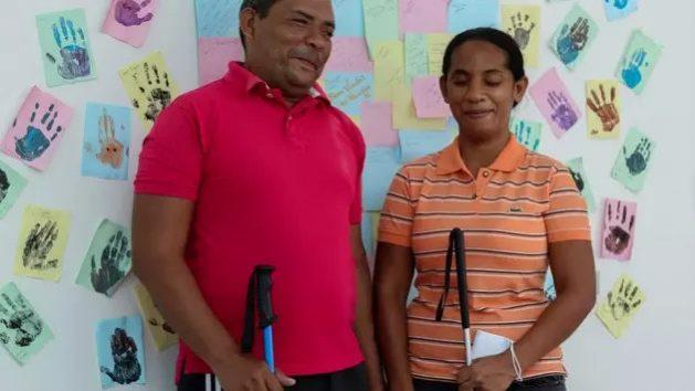 José y Gricel, una pareja de maestros venezolanos, hablaron sobre los cursos de idioma que realizan en un refugio del norte de Brasil. Una Operación de Acogida procura la inserción de los venezolanos migrantes y refugiados en la vida brasileña. Foto: Lucas Novaes/Acnur