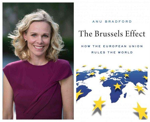 El efecto Bruselas y su autora, Anu Bradford. Foto: Twitter