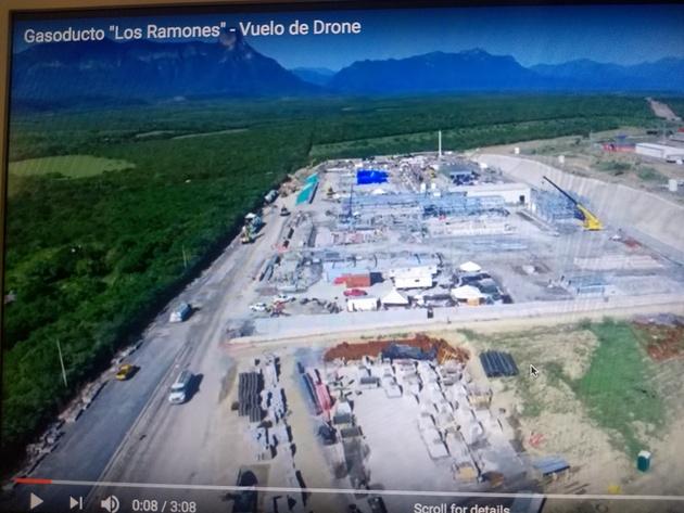La construcción de gasoductos ha generado conflictos con comunidades que se oponen a esos megaproyectos, además de contribuir con la generación de metano. En la imagen, captura de IPS de la construcción del gasoducto Los Ramones, en el Tamaulipas, en el noreste de México. Foto: Video de Gobernación de Tamaulipas