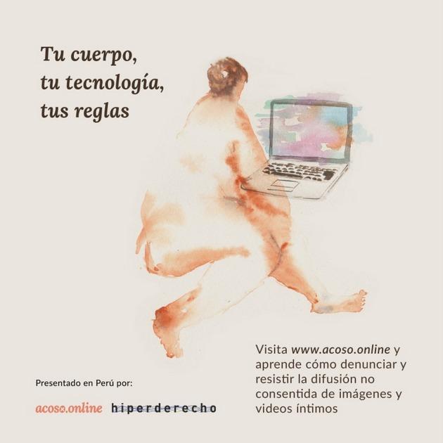Una campaña en Perú para concienciar a las mujeres sobre sus derechos en el espacio digital. Imagen: Hiperderecho.org