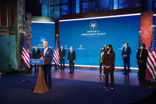 Joe Biden, el presidente electo de Estados Unidos, al anunciar los primeros nombramientos de su administración. En la OMC se espera la designación de su representante comercial para conocer quien dirigirá la nueva política de Washington en el sector, tras cuatro años traumáticos de acoso de Donald Trump. Foto: @joebiden