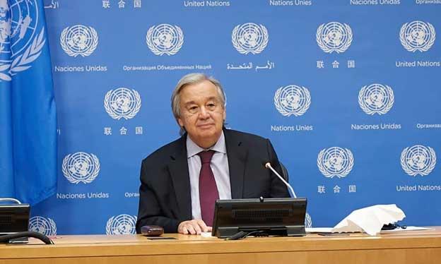 """El diplomático portugués António Guterres oficializó el 11 de enero que está """"disponible"""" para cumplir un segundo mandato de cinco años como secretario general de la Organización de Naciones Unidas. Foto: John Penney/PassBlue"""
