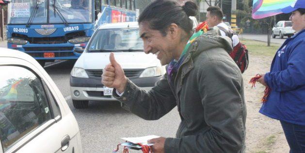 El segundo lugar provisional de Yaku Pérez, abogado del caso Río Blanco y hasta hace poco prefecto provincial de Azuay, en las elecciones presidenciales fue una sorpresa política en Ecuador. Foto: Andrés Bermúdez Liévan