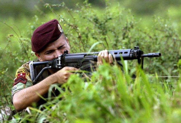 Miembro de las fuerzas bolivarianas en la frontera con Colombia. Foto: Alamy-democraciaAbierta