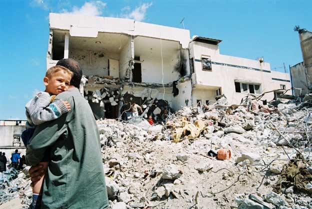 Una zona derruida por un ataque israelí en territorio palestino. Foto: UNRWA